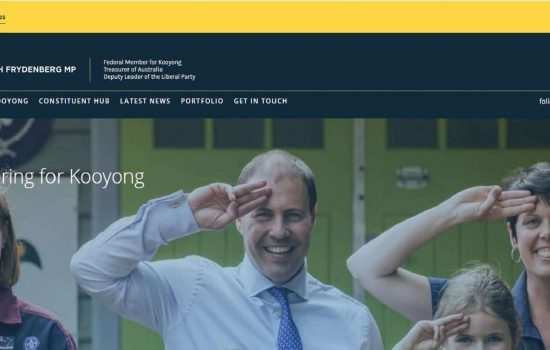 Josh Frydenberg Website Inspiration